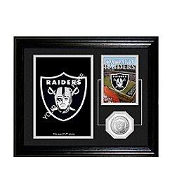 Oakland Raiders Framed Memories Desktop Photo Mint by Highland Mint