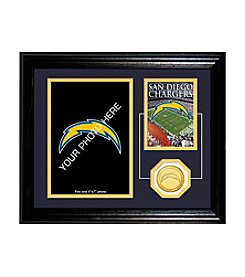 San Diego Chargers Framed Memories Desktop Photo Mint by Highland Mint