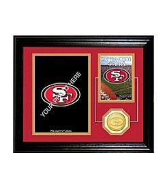 San Francisco 49ers Framed Memories Desktop Photo Mint by Highland Mint