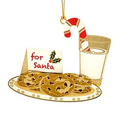 ChemArt Santa's Milk and Cookies Ornament
