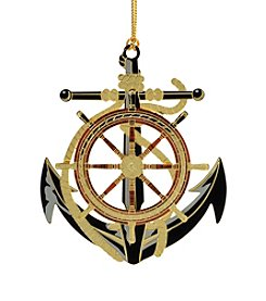 ChemArt Anchor and Wheel Ornament