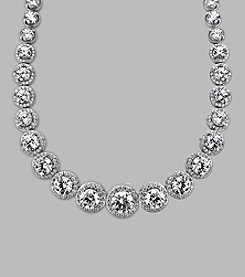 Balentino® Sterling Silver Necklace Made With Swarovski® Cubic Zirconia Elements
