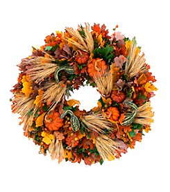 Joyful Pumpkin Dried Floral Wreath