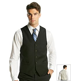 Lauren Ralph Lauren Men's Black Classic Fit Wool Vest