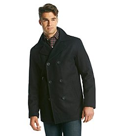 Chaps® Men's Double Breasted Peacoat