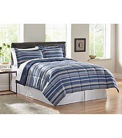 LivingQuarters Josie Stripe Reversible Microfiber Down-Alternative Comforter or Shams