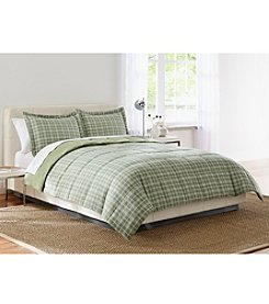 LivingQuarters Peter Olive Reversible Microfiber Down-Alternative Comforter or Shams