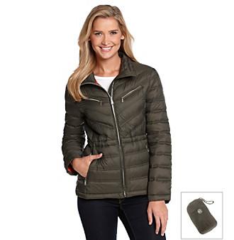 Michael Michael Kors Zipfront Packable Anorak Coat Women S