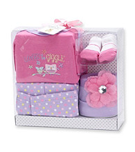 Cuddle Bear® Baby Girls' Pink Owl Layette Set