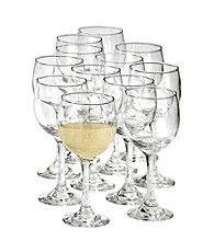 12-Piece Libbey 10.5 Oz Wine Party Glass Set