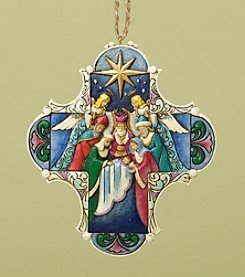 Heartwood Creek® by Jim Shore Nativity Cross Ornament