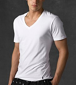 Polo Ralph Lauren® Men's White 3-Pack Classic V-Neck Tee