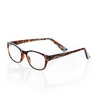 Café Readers® Blue Tortoise Reading Eyeglasses