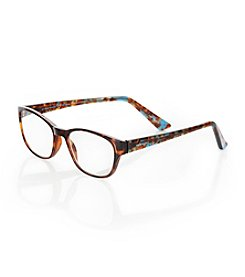 Café Readers® Blue Tortoise Reading Eyeglasses