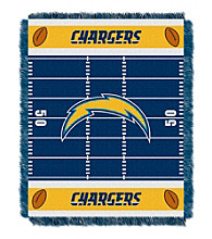 San Diego Chargers Baby Jacquard Field Throw