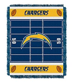 NFL® San Diego Chargers Baby Jacquard Field Throw