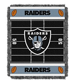 NFL® Oakland Raiders Baby Jacquard Field Throw