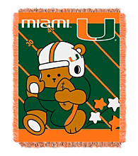 University of Miami Baby Jacquard Fullback Throw