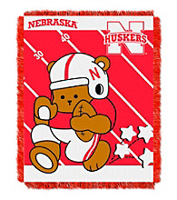University of Nebraska Baby Jacquard Fullback Throw