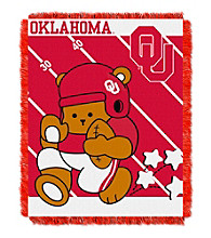 University of Oklahoma Baby Jacquard Fullback Throw
