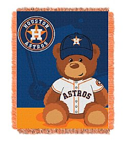 MLB Houston Astros Teddy Bear Baby Jacquard Throw