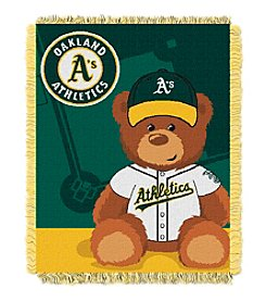 MLB® Oakland Athletics Teddy Bear Baby Jacquard Throw
