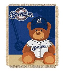 MLB® Milwaukee Brewers Teddy Bear Baby Jacquard Throw