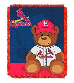 MLB® St. Louis Cardinals Teddy Bear Baby Jacquard Throw
