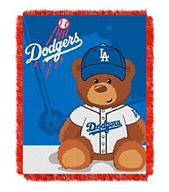 MLB® Los Angeles Dodgers Teddy Bear Baby Jacquard Throw