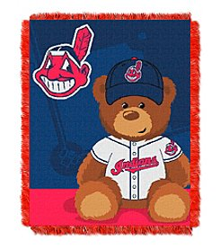 MLB® Cleveland Indians Teddy Bear Baby Jacquard Throw