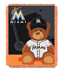 MLB® Miami Marlins Teddy Bear Baby Jacquard Throw