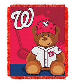 MLB® Washington Nationals Teddy Bear Baby Jacquard Throw