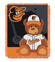 Baltimore Orioles Baby Jacquard Throw Field