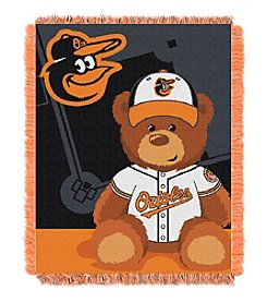 MLB Baltimore Orioles Teddy Bear Baby Jacquard Throw