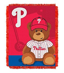 MLB® Philadelphia Phillies Teddy Bear Baby Jacquard Throw