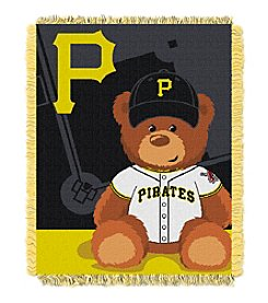 MLB® Pittsburgh Pirates Teddy Bear Baby Jacquard Throw