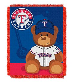 MLB® Texas Rangers Teddy Bear Baby Jacquard Throw