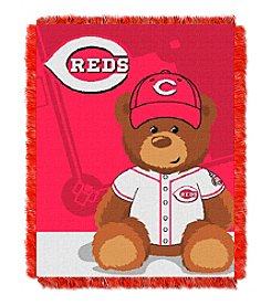 MLB® Cincinnati Reds Teddy Bear Baby Jacquard Throw