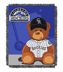 MLB® Colorado Rockies Teddy Bear Baby Jacquard Throw