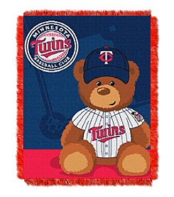 MLB® Minnesota Twins Teddy Bear Baby Jacquard Throw
