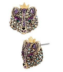 Betsey Johnson® Purple Fox Stud Earrings
