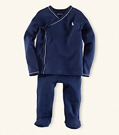 Ralph Lauren Childrenswear Baby Boys' Navy 2-pc. Kimono Set