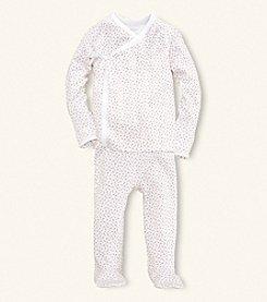 Ralph Lauren Childrenswear Baby Girls' Pink 2-pc. Floral Print Kimono Set