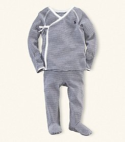 Ralph Lauren Childrenswear Baby Boys' Navy Striped 2-pc. Kimono Set