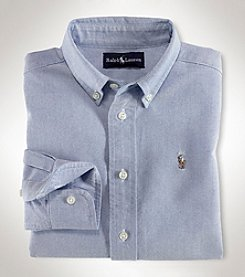 Ralph Lauren Boys' 2T-7 Long Sleeve Solid Oxford Shirt