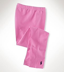 Ralph Lauren Childrenswear Girls' 7-16 Pink Leggings