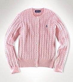 Ralph Lauren Childrenswear Girls' 7-16 Cardigan Sweater