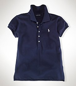 Ralph Lauren Childrenswear Girls' 7-16 Cap-Sleeve Polo