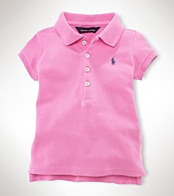 Ralph Lauren Childrenswear Girls' 2T-16 Short Sleeve Mesh Polo