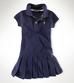 Polo Ralph Lauren® Girls' 2T-6X Short Sleeve Mesh Dress